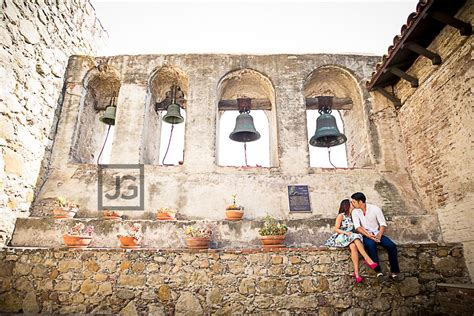 mission san juan capistrano laguna beach engagement