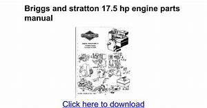 Comfortable briggs and stratton 175 hp engine diagram for Documents to go manual
