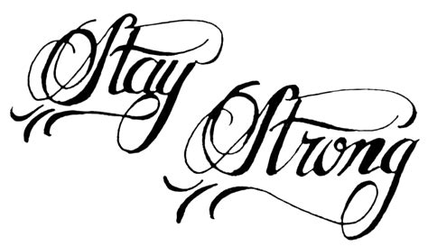 Stay Strong Tatto's Png By Andreavila On Deviantart