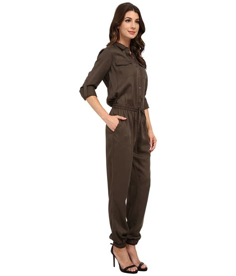 two jumpsuit two by vince camuto tencel utility drawstring