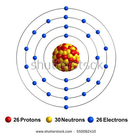 Number Of Protons In Iron by 3d Render Atom Structure Calcium Isolated Stock