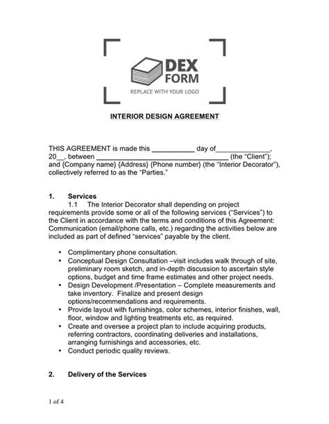 interior design contract template interior design contract sle brokeasshome
