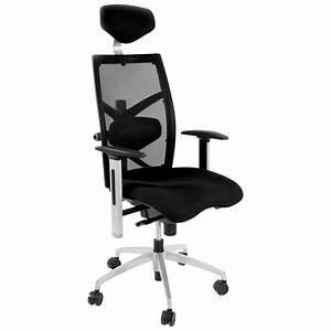 Fauteuil De Bureau Design : fauteuil de bureau cornue en tissu noir ~ Teatrodelosmanantiales.com Idées de Décoration