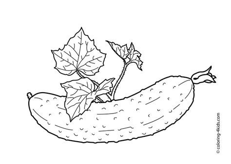 76 Best Fruits, Berries And Vegetables Coloring Pages