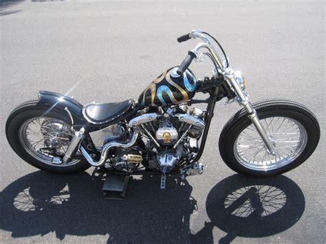 Shovelhead Swingarm Custom With Spool Front Wheel And
