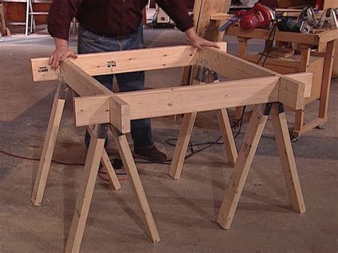 space saving sawhorse worktable