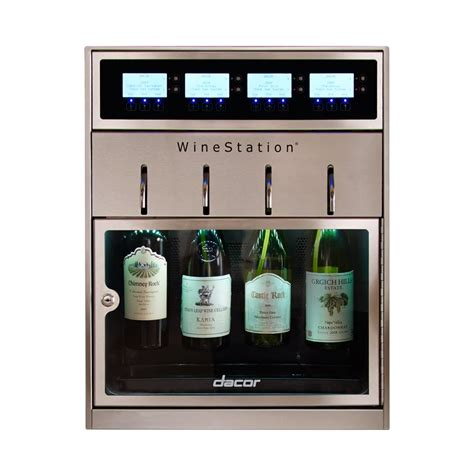 dacor wine dispenser dacor discovery 4 bottle built in wine cooler 3077