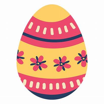 Easter Egg Pattern Painted Flower Stripe Transparent
