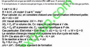 R U00e9sum U00e9 De Thermochimie Smpc S1