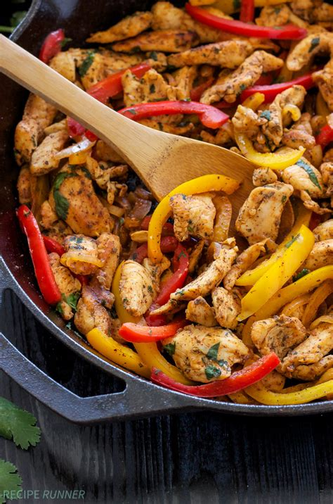 skillet chicken recipes skillet chicken fajitas recipe runner