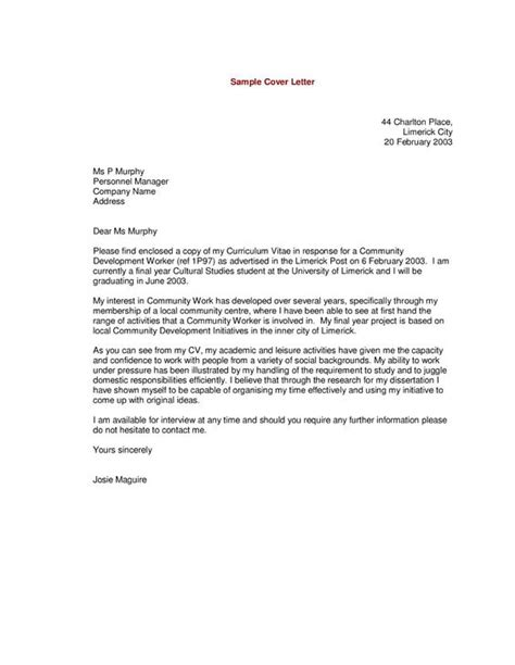 letter sle exles of cover letters and customer