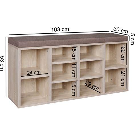 Sitzbank Flur Auflage by Schuhschrank 10 Schuhe Schuhbank Schrank Regal Auflage
