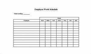 employee schedule template 15 free sample example With example of work schedule template