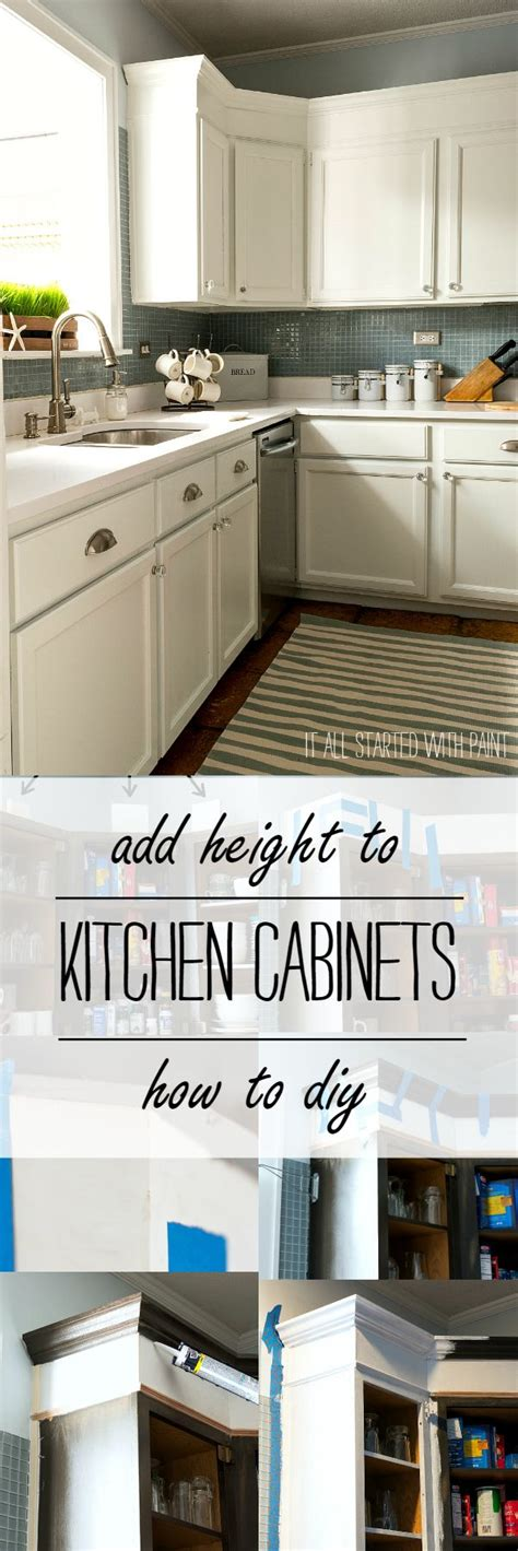 adding height to kitchen cabinets how to add height to kitchen cabinets power tools tops 7407