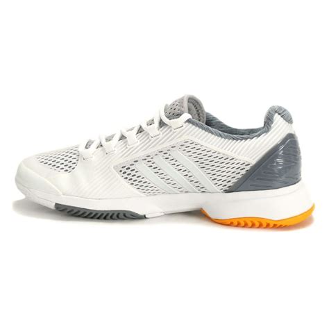 adidas stella mccartney  barricade womens tennis shoe whitenavyorange