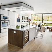 Open Plan Kitchen Designs White And Wood Open Plan Kitchen Open Plan Kitchen Design Ideas