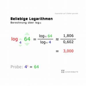 Logarithmus Berechnen : lektion g23 logarithmus und logarithmengesetze matheretter ~ Themetempest.com Abrechnung