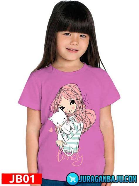 baju anak perempuan jb01 gambar lovely warna pink