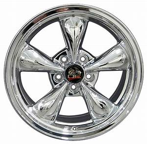 Chrome Wheels Toyo Tires fit Ford Mustang 17x8 Bullitt Style SET