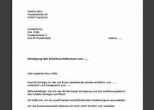 Kündigungsschreiben Wohnung Mieter : k ndigung arbeitsverh ltnis arzthelferin muster ~ Lizthompson.info Haus und Dekorationen