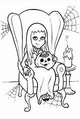 Halloween Coloring Ausmalbilder Pages Von Visit Malvorlagen sketch template