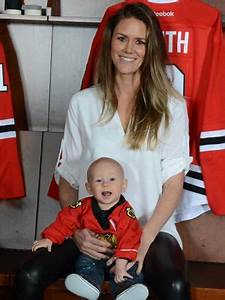 Kelly Rae Keith, wife of #2 Duncan Keith with son Colton ...