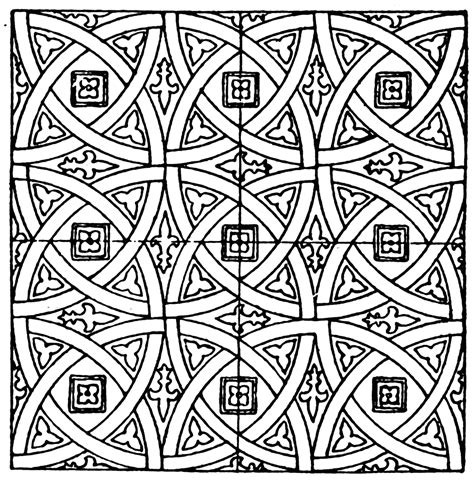 medieval tile circle pattern clipart
