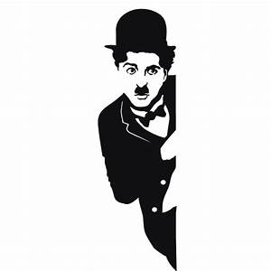 Movies wall decals Charlie Chaplin