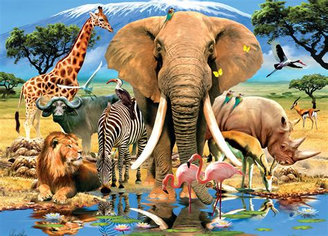 Available instantly on compatible devices. Animal Planet: Safari Adventure - 1000pc Jigsaw Puzzle by ...