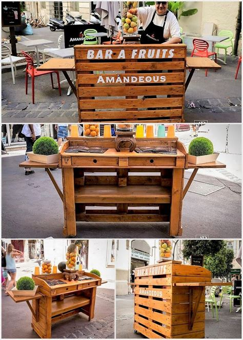 made out of pallets fruits bar made out of wood pallets pallet wood projects