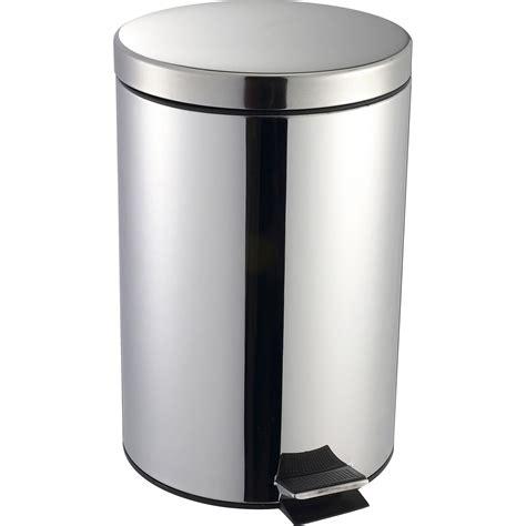 po麝e de cuisine poubelle de cuisine à pédale selekta métal inox 20 l leroy merlin