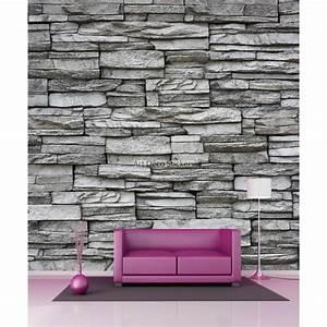Papier Peint Geant : papier peint g ant murs en pierres 11018 stickers muraux ~ Premium-room.com Idées de Décoration