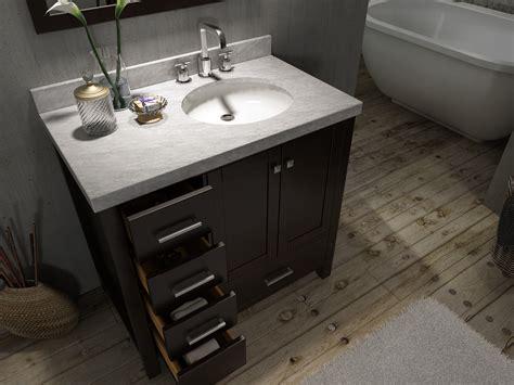 setting a kitchen sink ace cambridge 37 inch single sink bathroom vanity set 5134