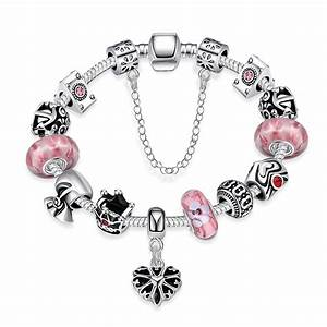 Aliexpress.com : Buy Silver Plated Pink Glass Crystal ...