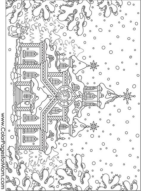 christmas coloring pages  adults   cool funny