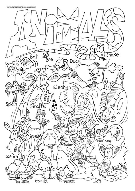 zoo animal coloring pages  animal pictures  color