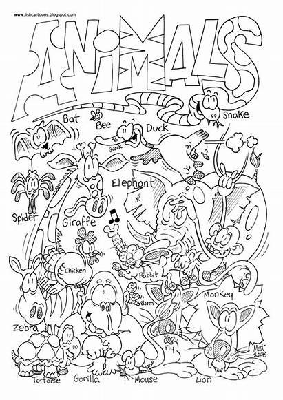 Zoo Coloring Animals Preschool Animal Pages Wild