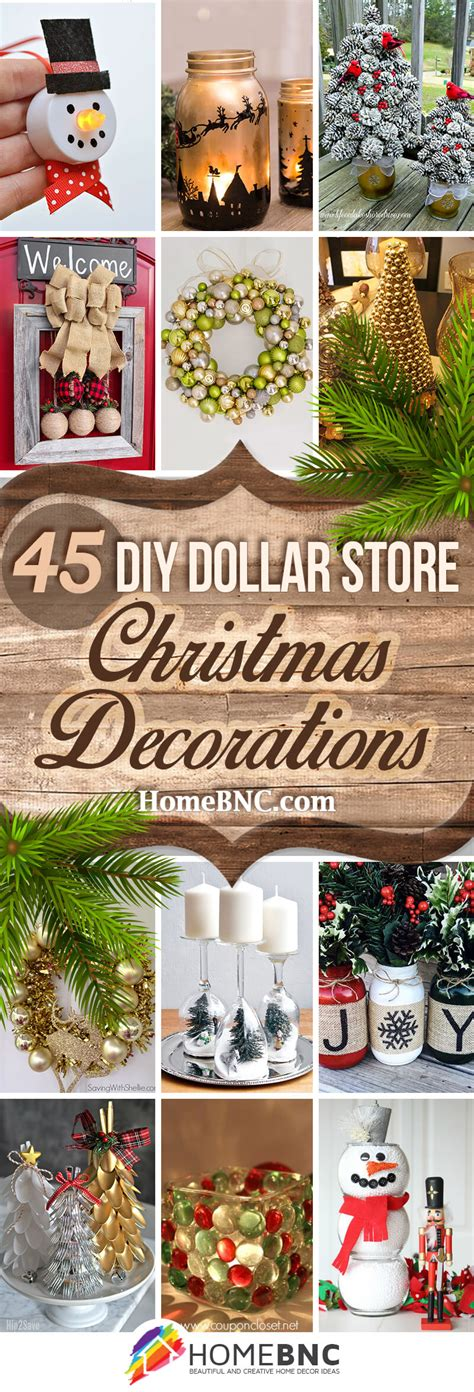 diy dollar store christmas decor craft ideas