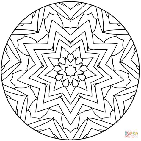 star mandala coloring page  printable coloring pages