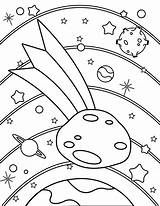 Asteroid Coloring Printable Template Templates sketch template