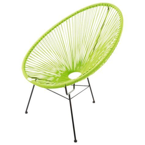 fauteuil de jardin rond vert copacabana maisons du monde