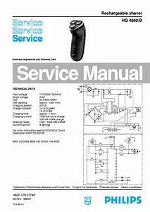 Philips Hq4850b Rechargeable Shaver Service Manual