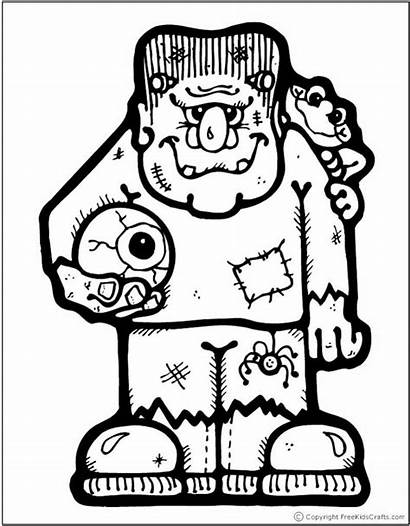 Halloween Coloring Frankenstein Printable Crafts Templates Eye