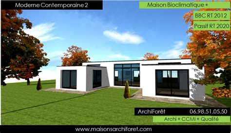 photo maison moderne plein pied