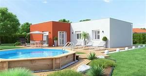 maison toit plat plain pied 28 images plan maison With plan maison 3d gratuit 7 maison plain pied 120m178 maisons ideales