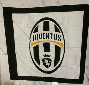 1 Flag Official Juventus 150X140 Juve Flag Logo White ...