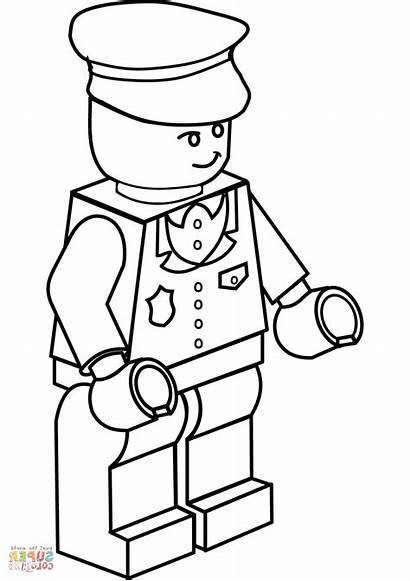 Lego Coloring Pages Guy Printable Getcolorings Colorings