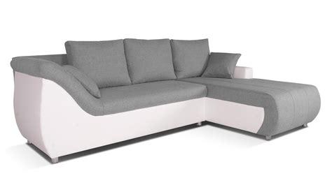 canape d angle convertible blanc corabia canapé d 39 angle convertible droit design gris
