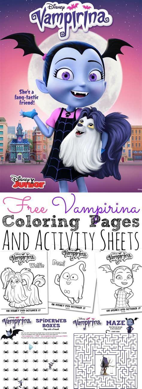 vampirina coloring pages  activity sheets    print