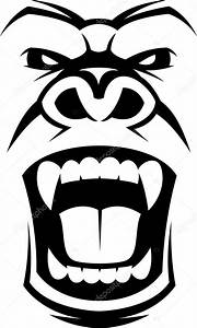 Angry gorilla head — Stock Vector © Andrey_Makurin #75684875